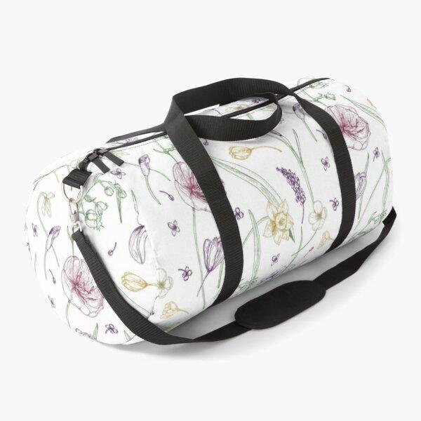 Blooming Spring Flowers Duffle Bag