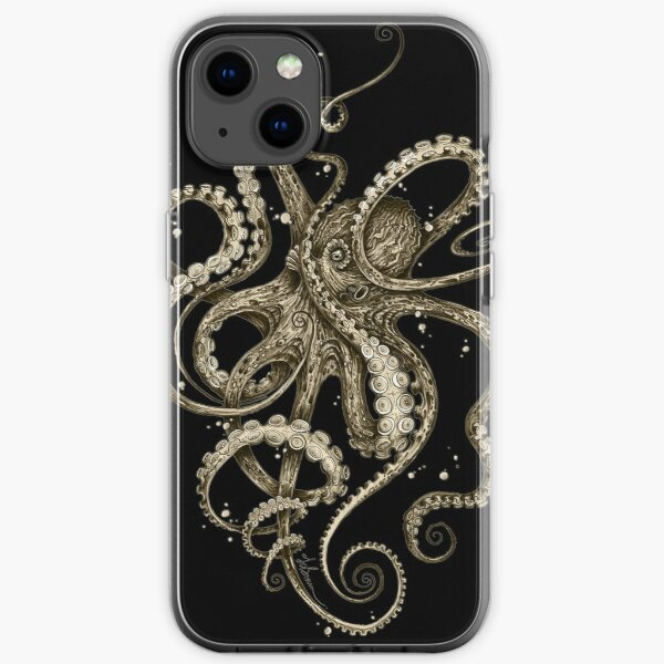 Octopsychedelia Sepia iPhone Soft Case
