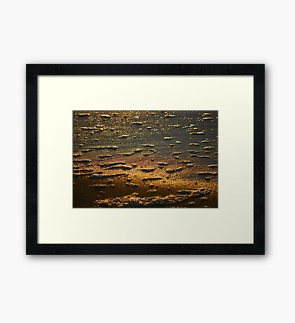 Dawn Water 'Whitewash' Framed Print