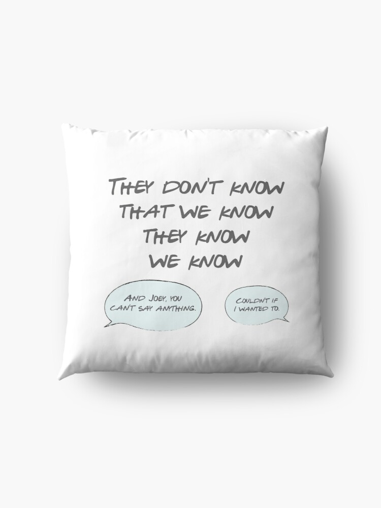 Alternate view of They Don't Know Floor Pillow