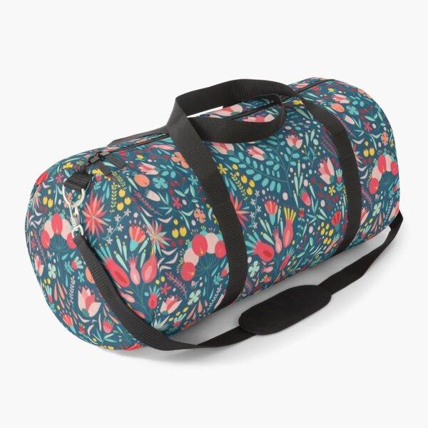 Blooming Colorful Flowers Duffle Bag