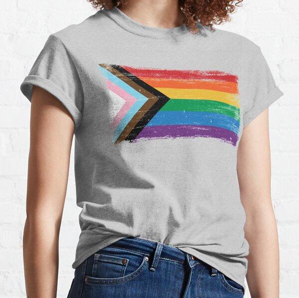 Progress Pride Flag - Vintage Paint Classic T-Shirt