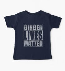 Vintage Fade Ginger Lives Matter St Patrick's Day Baby Tee