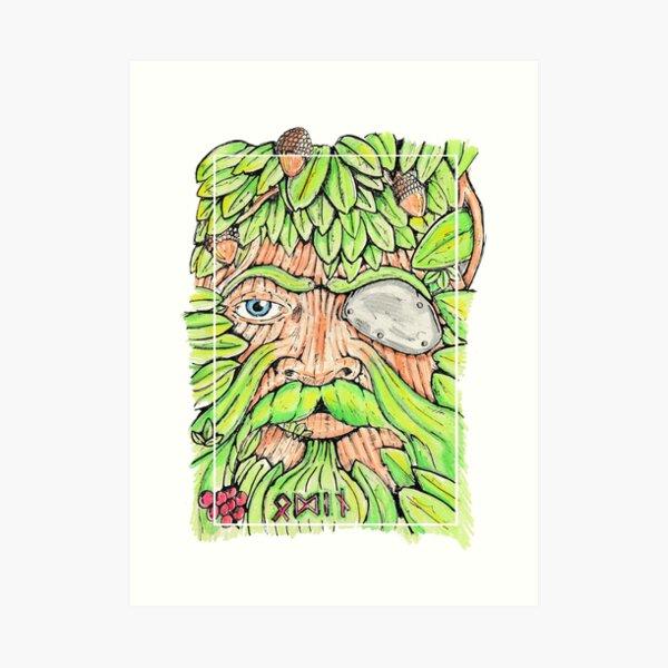 Odin/The Green Man Art Print