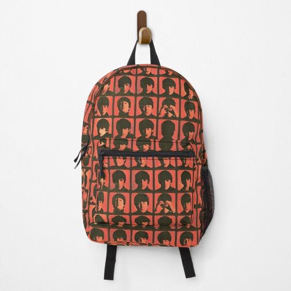 a hard day's night orange grungy vintage retro design Backpack