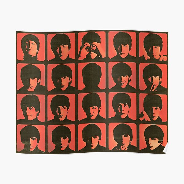 a hard day's night orange grungy vintage retro design Poster