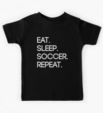 Eat. Sleep. Soccer. Repeat Kids Tee