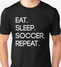 Eat. Sleep. Soccer. Repeat Slim Fit T-Shirt