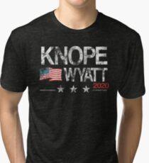 Knope 2020 Distressed Tri-blend T-Shirt