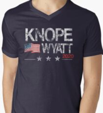 Knope 2020 Distressed Men's V-Neck T-Shirt