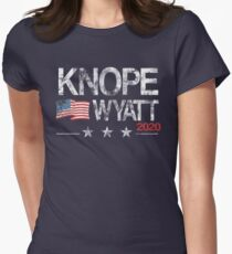 Knope 2020 Distressed Women's Fitted T-Shirt