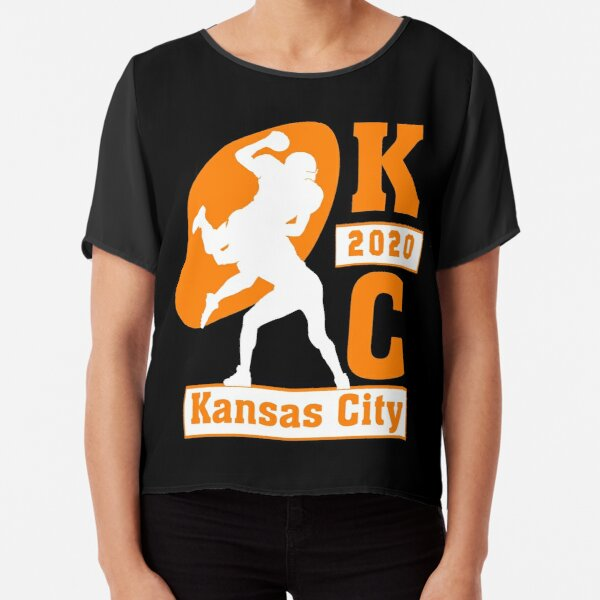 Kansas City vintage KC 2020 American Champions Football Tee Chiffon Top