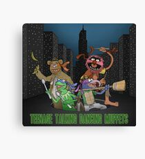 Teenage Talking Dancing Muppets Canvas Print