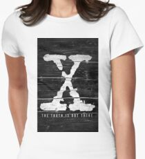 the x-files Women's Fitted T-Shirt