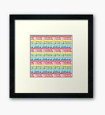 Rainbow Brushstrokes Framed Print