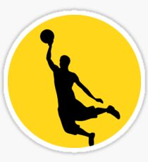 Basketball Player Silhouette Gold Sticker