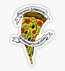 Pizza//System of a Down Sticker