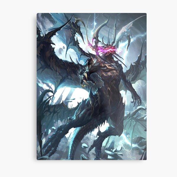 Lightning Dragon Metal Print