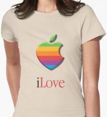 iLove 3D (for light shirts) Women's Fitted T-Shirt