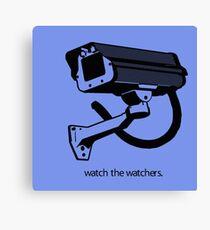 CCTV : WATCH THE WATCHER Canvas Print