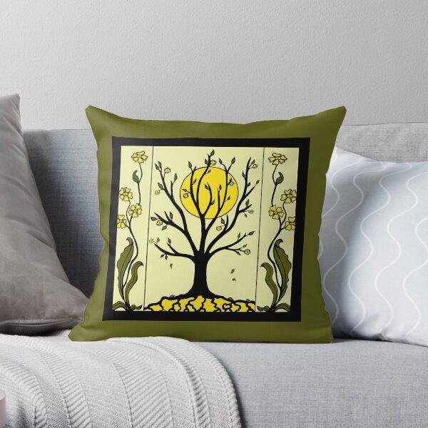 Art Deco - Tree Throw Pillow