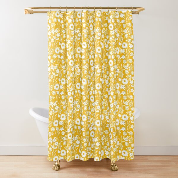 Fall Wildlflower Field in Sunshine by Tea with Xanthe Shower Curtain