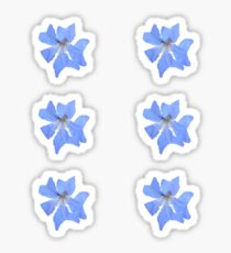 Blue Wildflower Sticker