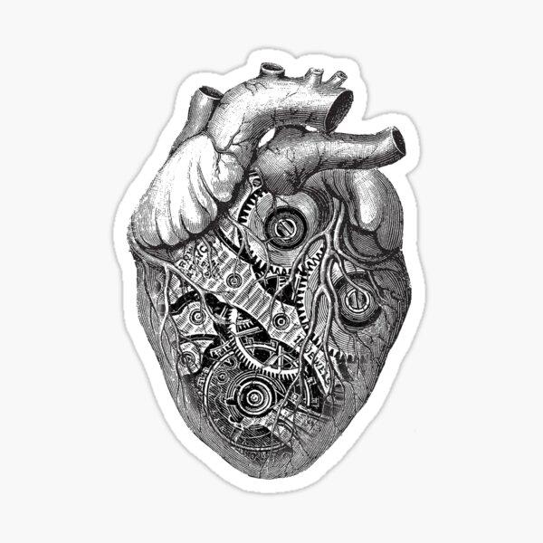 Clockwork Heart Pegatina
