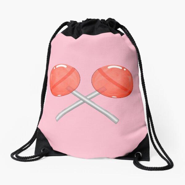 2 lollipops crossed Drawstring Bag