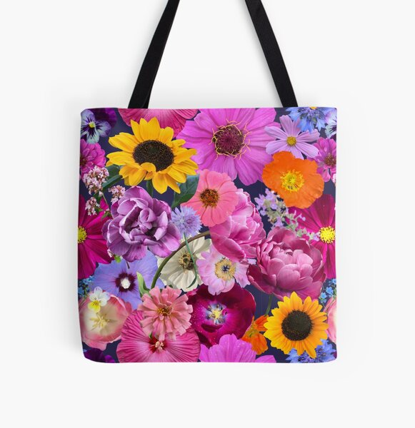 Flower Party by Tea with Xanthe All Over Print Tote Bag