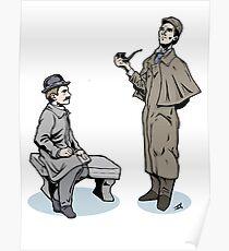 Victorian Sherlock and Watson Poster