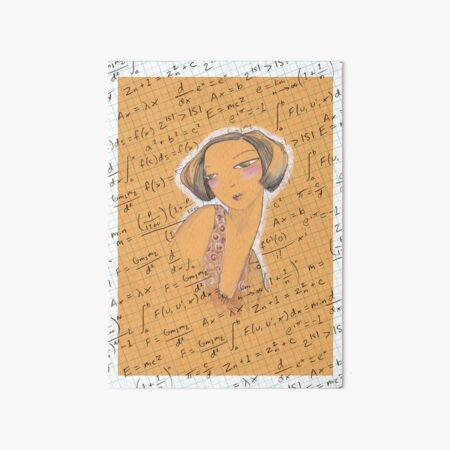 Einstein Girl Art Board Print