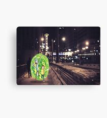 Rick and Morty in Chicago Canvas Print