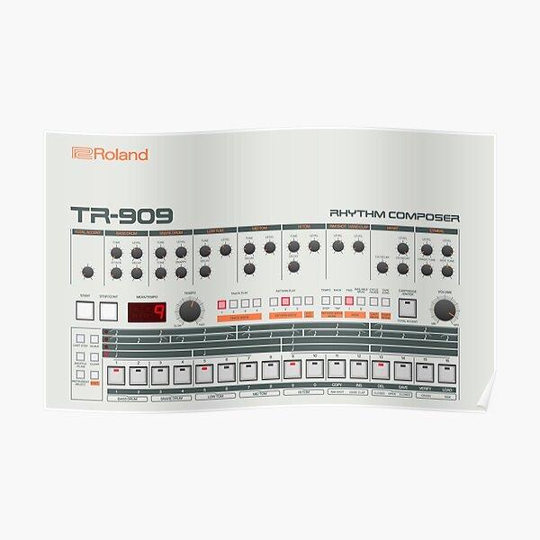 Roland TR-909 Rhythm Composer Poster