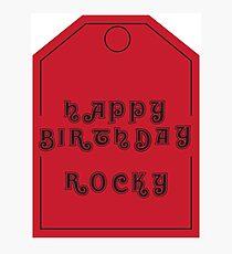 Joyeux anniversaire Rocky Impression photo