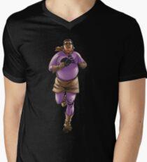 RUNNING FATBOY Men's V-Neck T-Shirt