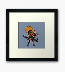 Robot Bandito Framed Print