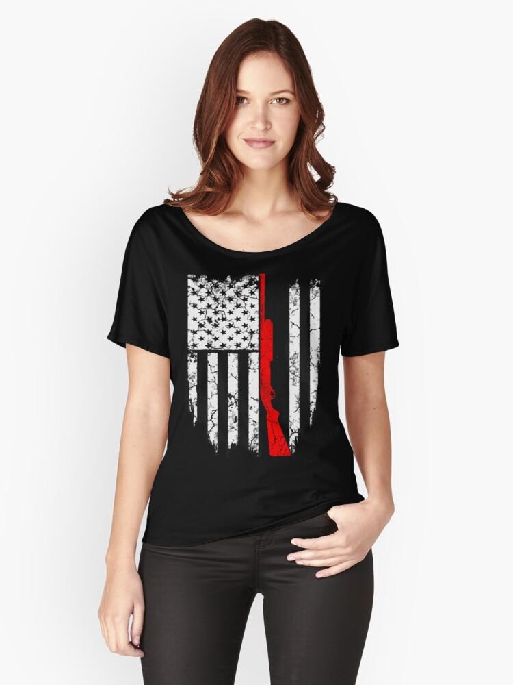 shotgun flag Women's Relaxed Fit T-Shirt Front