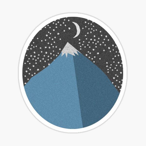 Conception simple de la montagne Sticker