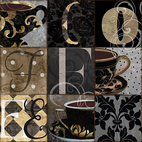 Coffee Love Nine Patchwork by mindydidit