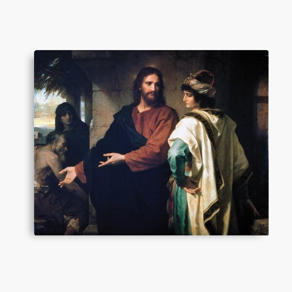 Original Jesus and the Rich Young Man Canvas Print