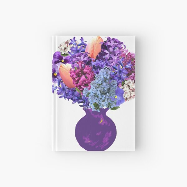 April in the garden bouquet sticker by Tea with Xanthe Hardcover Journal