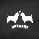 Australian Terriers Love by Jenn Inashvili