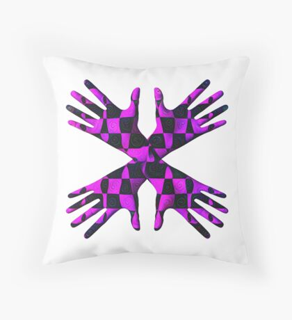 #DeepDream Gloves 5x5K v1456239375 Throw Pillow