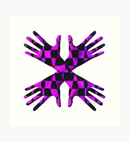 #DeepDream Gloves 5x5K v1456239375 Art Print