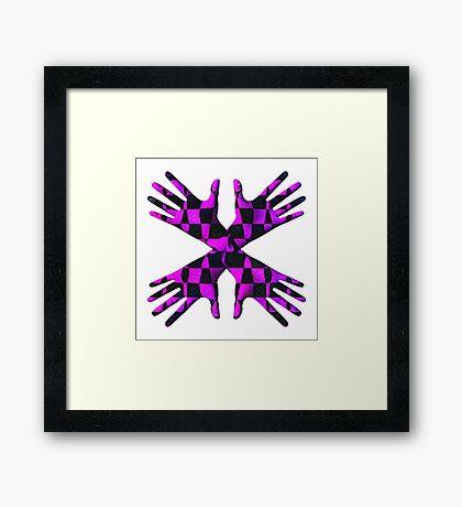 #DeepDream Gloves 5x5K v1456239375 Framed Print