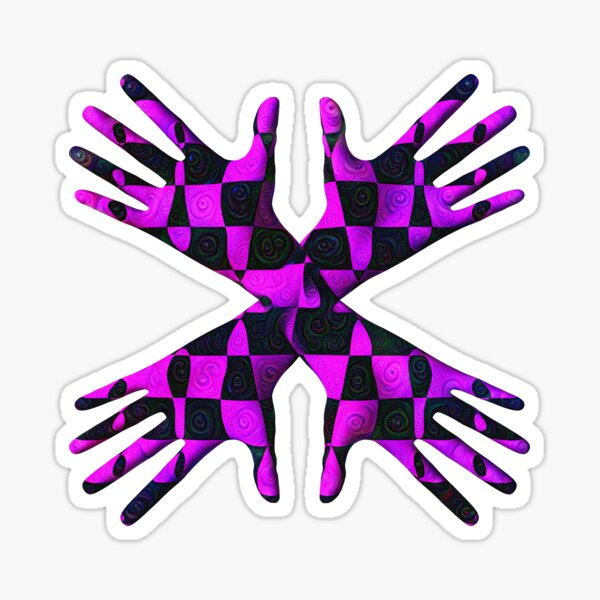 #DeepDream Gloves 5x5K v1456239375 Sticker