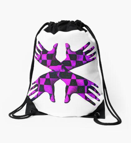 #DeepDream Gloves 5x5K v1456239375 Drawstring Bag
