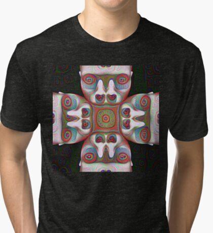 #DeepDream Masks 5x5K v1455625554 Tri-blend T-Shirt