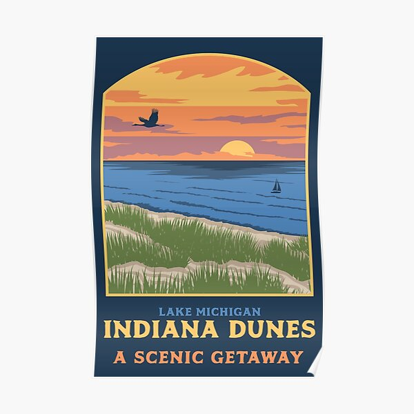 Poster Indiana Dunes Poster